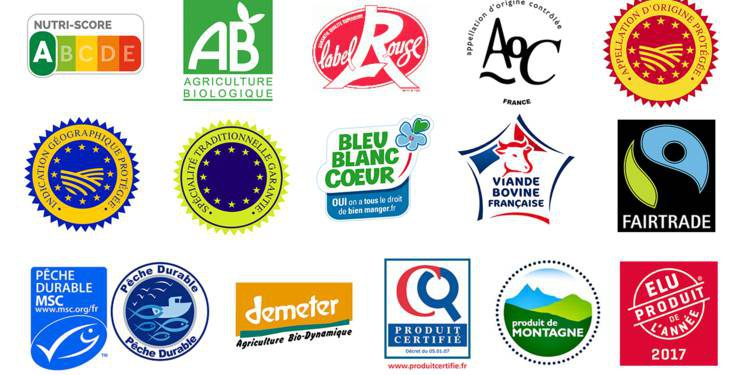 les différents labels sur les étiquettes alimentaires