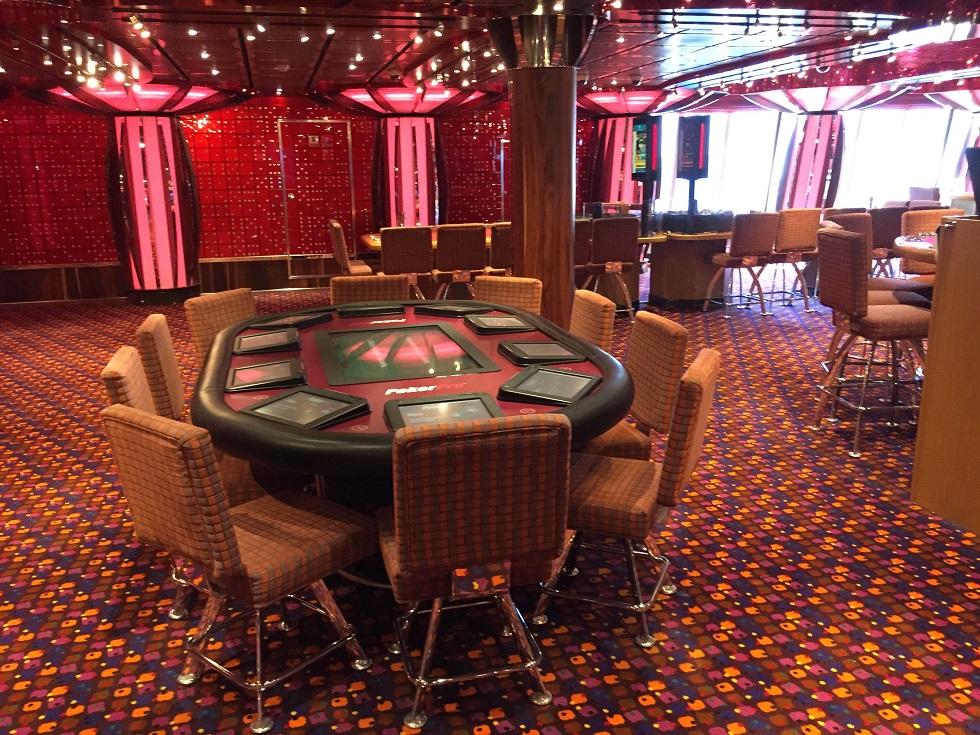 Table de Poker sur le costa croisiere