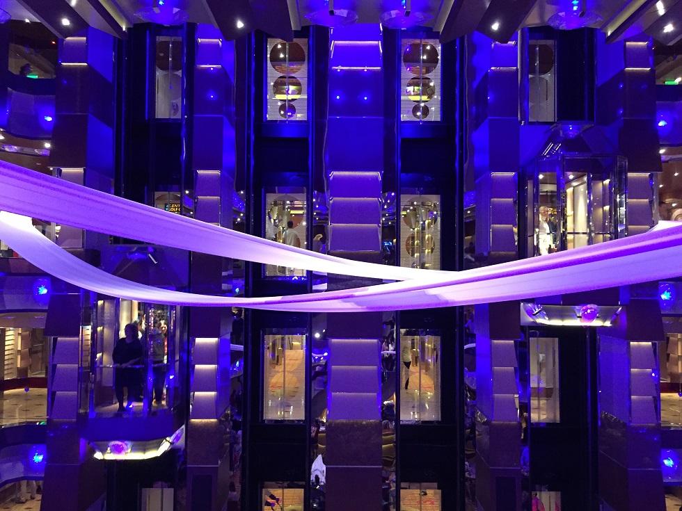 Les ascenseurs du bateau