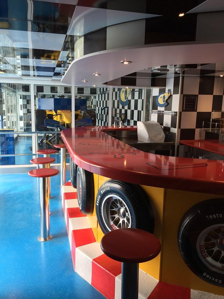 simulateur de F1 sur le costa croisière