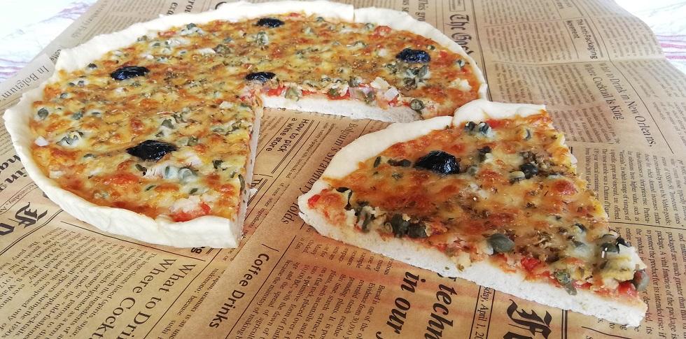 Pizza aux câpres