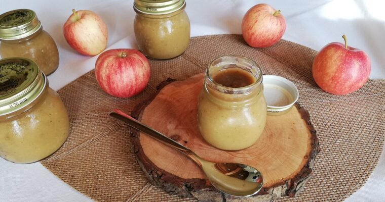 Compotée de Pommes au thé matcha