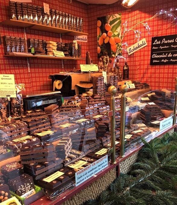 photo prise sur le marché de noël en alsace