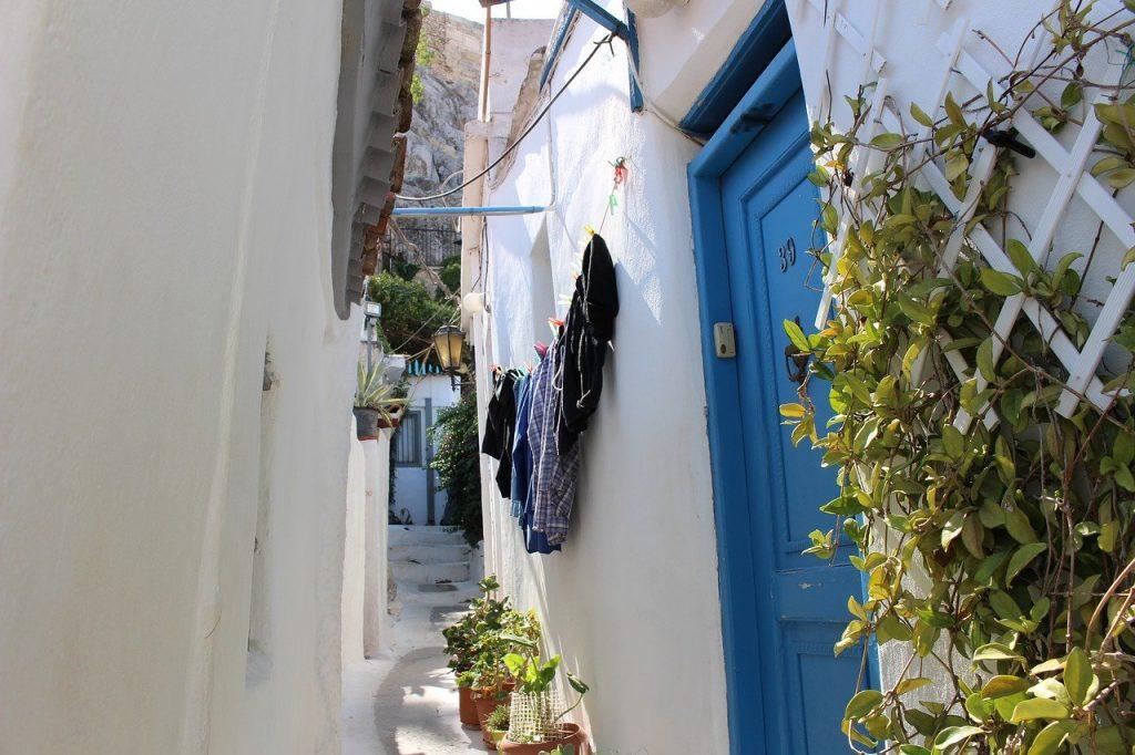 ruelle de Plaka en Grèce