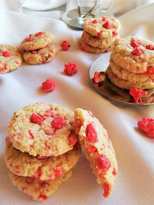 cookies aux pralines roses vegan