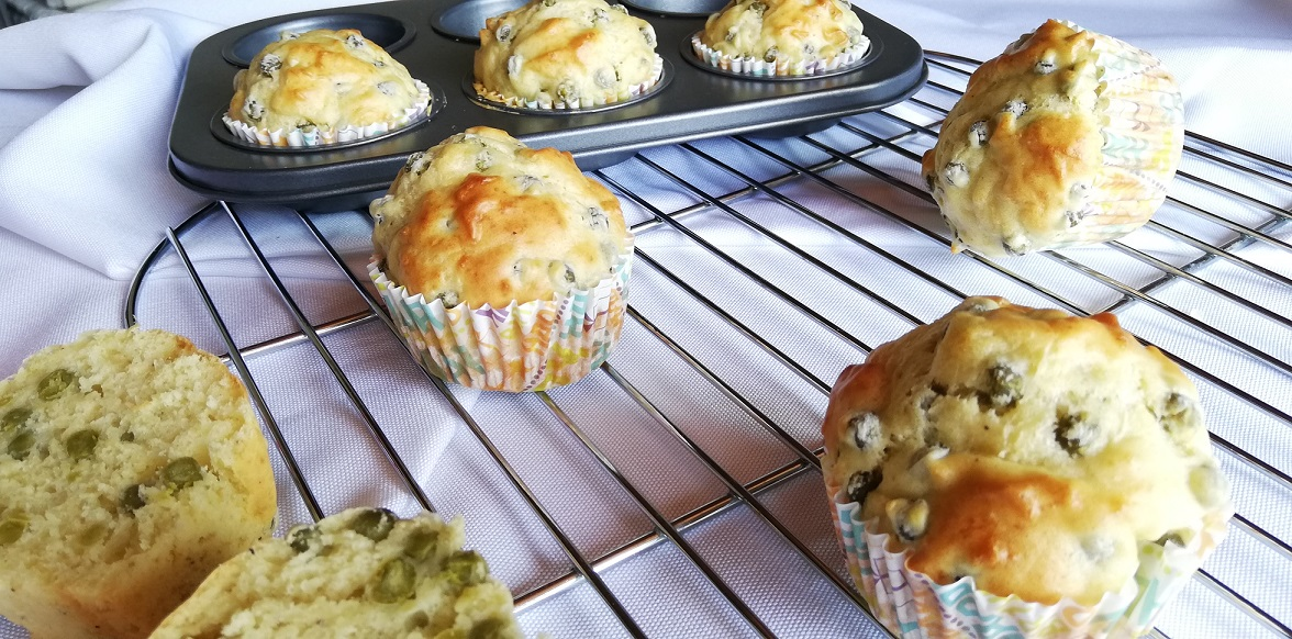 Muffins aux petits pois express