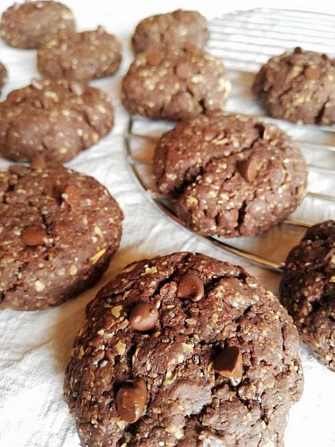 cookies chocolat flocon d'avoine vegan