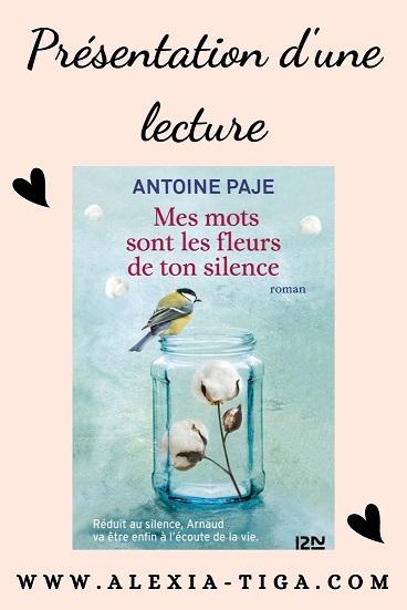 mes mots sont les fleurs de ton silence de Antoine PAJE