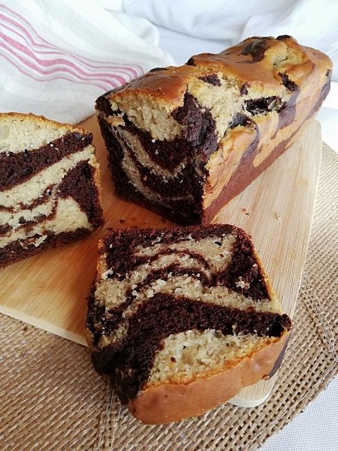 recette du cake marbré vegan