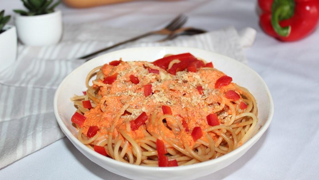 Spaghettis aux poivrons