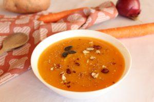 soupe à la courge protéinée
