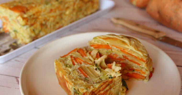 Flan aux légumes râpés