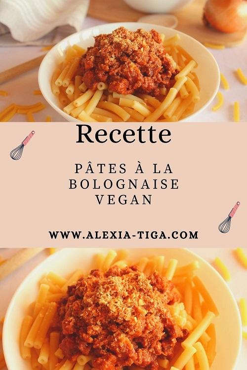 pâtes à la bolognaise vegan