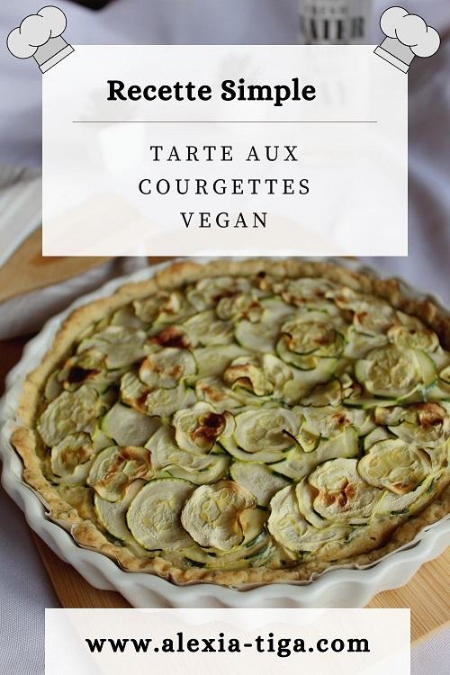 tarte aux courgettes vegan