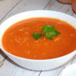 velouté de tomates aux vermicelles