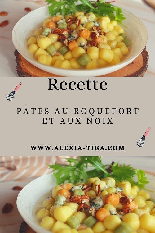 pâtes au roquefort et aux noix