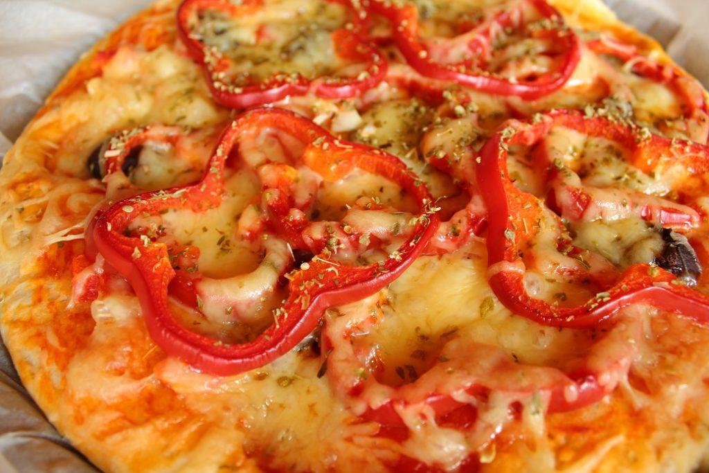 la pizza aux poivrons