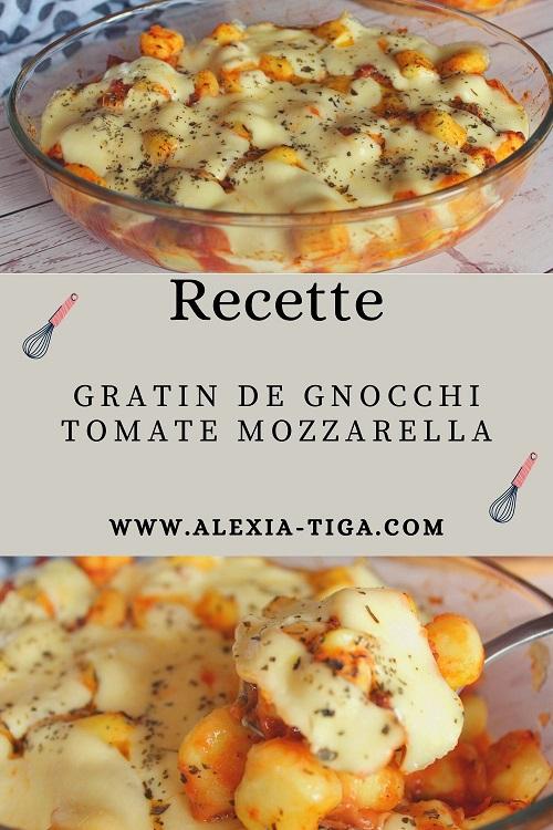 gratin de gnocchi tomate mozzarella
