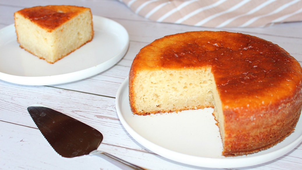 Gâteau génoise au yaourt vegan