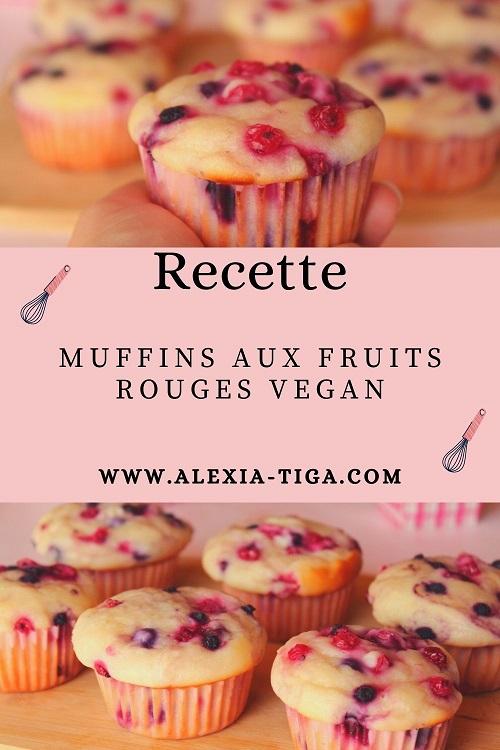 muffins aux fruits rouges vegan et moelleux